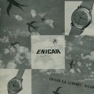 Enicar Watch Company Bienne Switzerland Vintage 1950 Swiss Ad Suisse Advert Horology