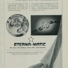 Eterna Watch Company Vintage 1950 Swiss Ad Eterna Matic Switzerland Suisse Advert