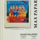 Max Papart American Ballet 1987 Art Ad Advertisement