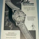 1951 Mido Watch Company Bienne Switzerland Vintage 1951 Swiss Ad Suisse Advert