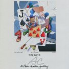 1982 Yankel Ginzburg Ace and a Jack 1982 Art Exhibition Ad Advert Advertisement
