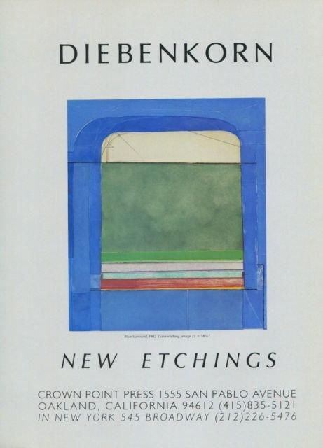 Richard Diebenkorn Vintage 1982 Art Ad Blue Surround Advert Advertisement