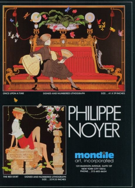 1982 Philippe Noyer Once Upon a Time, The Red Skirt Advert 1982 Art Ad  Advertisement