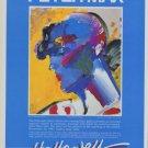 1982 Peter Max Palm Beach Lady Vintage 1982 Art Exhibition Ad Advert Advertisement