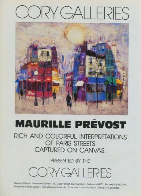 Maurille Prevost Vintage 1982 Art Ad Advertisement