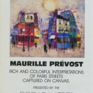 Maurille Prevost Vintage 1982 Art Ad Advertisement