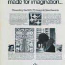 Albert Paley Tony Rosenthal Vintage 1975 Art Ad American Iron & Steel Institute