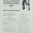 1948 Chronometer Competition Results Switzerland Geneva Neuchatel Swiss Magazine Article
