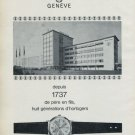 1965 Favre-Leuba Watch Company Switzerland 1965 Swiss Ad Suisse Advert Horology Horlogerie