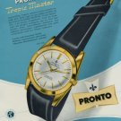 1956 Pronto Watch Company Tropic Master Advert Vintage 1956 Swiss Ad Suisse Advert Switzerland
