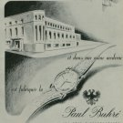 1950 Paul Buhre Watch Company Vintage 1950 Swiss Ad Suisse Advert Switzerland Horology