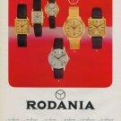 1968 Rodania Watch Company Switzerland Vintage 1968 Swiss Ad Suisse Advert