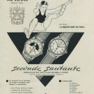 1956 Hy. Moser & Cie Watch Company Switzerland Saltofix Vintage 1956 Swiss Ad Suisse Advert