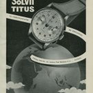 1950 Titus Watch Company Solvil Switzerland Vintage 1950 Swiss Ad Suisse Advert Paul Ditisheim