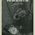 1950 Moeris Watch Company Switzerland Vintage 1950 Swiss Ad Suisse Advert Horology