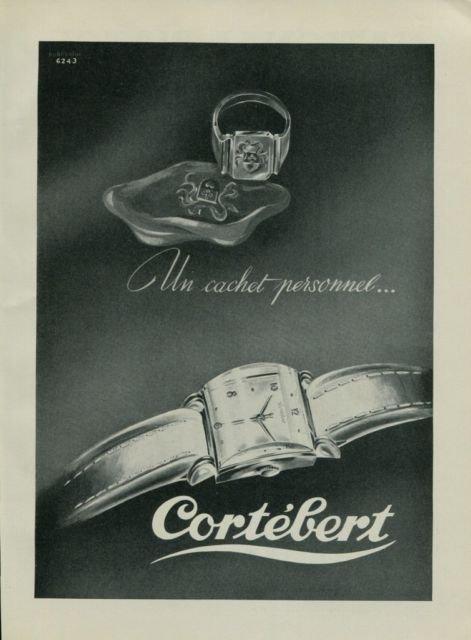 Cortebert Watch Company Vintage 1950 Swiss Ad Suisse Advert Switzerland Horology