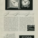 Cyma Clock Company 1950 Swiss Ad Tavannes Watch Company Switzerland Suisse Advert