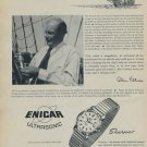 1957 Enicar Watch Company Sherpas Lengnau Switzerland 1957 Swiss Ad Suisse Advert