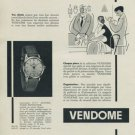 Vendone Watch Company Switzerland Vintage 1956 Swiss Ad Suisse Advert Horology