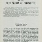 1949 25th Anniversary of Swiss Society of Chronometry 1949 Swiss Magazine Article by L. Defossez