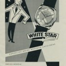 White Star Watch Company Weiss & Co. Vintage 1956 Swiss Ad Suisse Advert