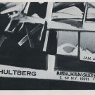 1969 Vintage Hultberg Art Exhibition Ad Magazine Advert Print Ad 1960's