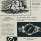 1956 Sandoz Watch Company Henri Sandoz & Fils Vintage 1956 Swiss Ad Suisse Advert
