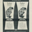 1956 Zodiac Watch Company Calame & Cie Switzerland Vintage 1956 Swiss Ad Suisse Advert Horology