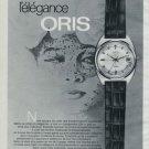 Oris Watch Company Holstein Switzerland Vintage 1970 Swiss Ad Suisse Advert