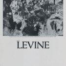 1969 Jack Levine Gangsters Funeral Vintage 1969 Art Ad Advertisement