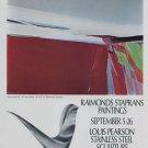 1969 Raimonds Staprans Louis Pearson Vintage 1969 Art Exhibition Ad Advert