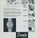Buser Freres Watch Company 1956 Swiss Ad Suisse Advert Niederdorf, Switzerland