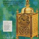 1968 Imhof Clock Company Arthur Imhof S.A. Switzerland Vintage 1968 Swiss Ad Suisse Advert