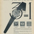 Admes Watch Company Indimatic 1957 Swiss Ad Geneva Switzerland Suisse Advert