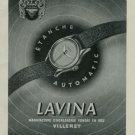 1950 Lavina Watch Company Vintage 1950 Swiss Ad Villeret Switzerland Suisse Advert Horlogerie