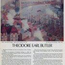 1974 Theodore Earl Butler Brooklyn Bridge Vintage 1974 Art Ad Advert Advertisement