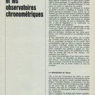 1965 L'Horloger et les Observatoires Chronometriques by L. Defossez 1965 Swiss Magazine Article