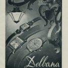 Delbana Watch Company Grenchen Switzerland Vintage 1956 Swiss Ad Suisse Advert