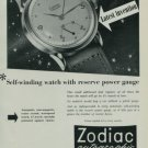 1950 Zodiac Watch Company Zodiac Autographic Advert Vintage 1950 Swiss Ad Suisse Advert Switzerland
