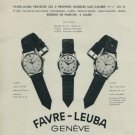 1956 Favre-Leuba Watch Company Sea King Vintage 1956 Swiss Ad Suisse Advert Horology