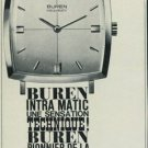 Buren Watch Company Switzerland 1965 Swiss Ad Suisse Advert Horology