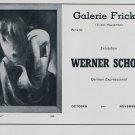 1969 Werner Scholz Carnival Vintage 1969 Art Exhibition Ad Advert Galerie Fricker