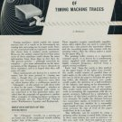 1954 The Interpretation of Timing Machine Traces Part I by L. Defossez 1954 Swiss Magazine Article