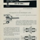 1954 The Headstock of the Watchmaker's Lathe by H. Jendritzki Vintage 1954 Swiss Magazine Article