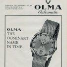 1968 Olma Watch Company Switzerland Numa Jeannin S.A. 1968 Swiss Ad Suisse Advert