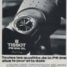 1969 Tissot Watch Company Tissot PR 516 GL Advert Vintage 1969 Swiss Ad Suisse Advert Horology