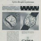 Cyma Watch Company Switzerland Vintage 1968 Swiss Ad Suisse Advert Horology