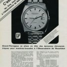 1972 Girard-Perregaux Watch Company Switzerland Vintage 1972 Swiss Ad Suisse Advert