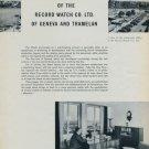 1954 Record Watch Company Switzerland 50th Anniversary 1954 Swiss Magazine Article