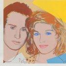 Andy Warhol Portrait John McEnroe Tatum O'Neal Art Ad